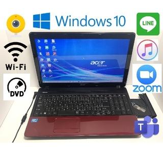 エイサー(Acer)のすぐ使えるWin10高性能PC15.6型Webカメラ アプリ多数(ノートPC)