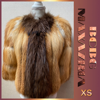 BCBGMAXAZRIA - 『お値下げ❣️』BCBG  MAXAZRIA   毛皮 ジャケット  (XS)