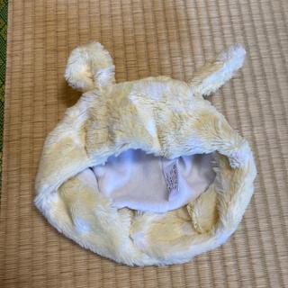(479) 46〜48cm 耳付き帽子 ドット イエロー(帽子)