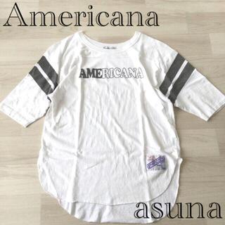 ドゥーズィエムクラス(DEUXIEME CLASSE)の売約◉けあねこ様Americana  アメリカーナ フットボールカットソー(Tシャツ(長袖/七分))