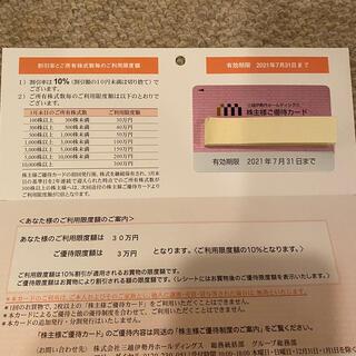伊勢丹 - 三越伊勢丹ホールディングス 株主優待カード