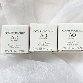 コスメデコルテ(COSME DECORTE)の コスメデコルテ  AQ ミリオリティ  インテンシブ クリーム  2g 3点(フェイスクリーム)