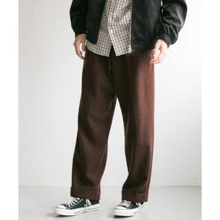 アーバンリサーチ(URBAN RESEARCH)の新品同様 URBAN RESEARCH Wool tuck wide pants(スラックス)