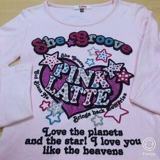 ピンクラテ(PINK-latte)のピンクラテ♡薄ピンク色の長袖Tシャツ(Tシャツ/カットソー)