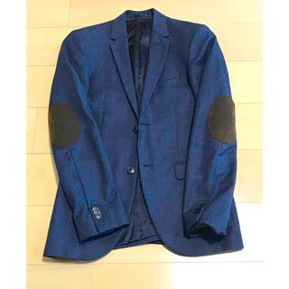 エイチアンドエム(H&M)のH&M エルボーパッチジャケット ネイビー(テーラードジャケット)
