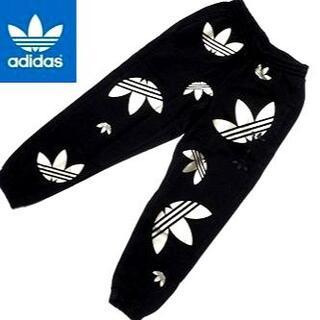 adidas - 新品 アディダスオリジナルス スウェットパンツ 黒×金 Mサイズ 裏起毛