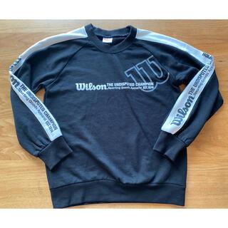 ウィルソン(wilson)のウィルソン 150 トレーナー 黒(Tシャツ/カットソー)