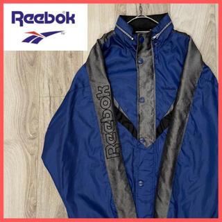 リーボック(Reebok)のReebok ナイロンジャージ サイドロゴ 裏起毛 ロゴボタン(ジャージ)
