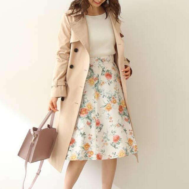 PROPORTION BODY DRESSING(プロポーションボディドレッシング)のプロポーション レースアップ フラワープリントスカート レディースのスカート(ひざ丈スカート)の商品写真