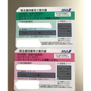 エーエヌエー(ゼンニッポンクウユ)(ANA(全日本空輸))のANA 全日空 株主優待券 2枚(その他)