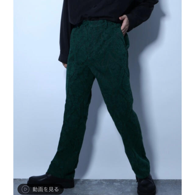 HARE(ハレ)のhare ハレ ダマスクジャガードパンツ グリーン メンズのパンツ(スラックス)の商品写真