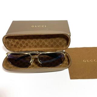 Gucci - GUCCI グッチ サングラス メンズ ゴールドフレーム 度入り