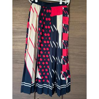 GRACE CONTINENTAL - グレースコンチネンタル スカーフ柄プリーツスカート