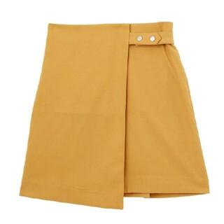 ムルーア(MURUA)の激安!新品未使用!MURUA ムルーア ミニスカート からし色(ミニスカート)
