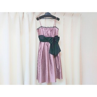エメ(AIMER)のAIMER エメ ドレス サイズ 38 9号 Mサイズ ピンク(ミディアムドレス)