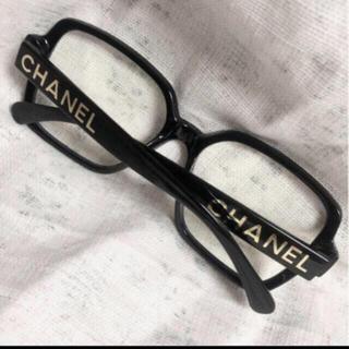 CHANEL - 黒ぶち 伊達眼鏡 メガネ