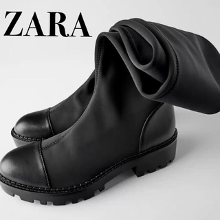 ZARA - 新品 ZARA ニーハイブーツ ロングブーツ 38
