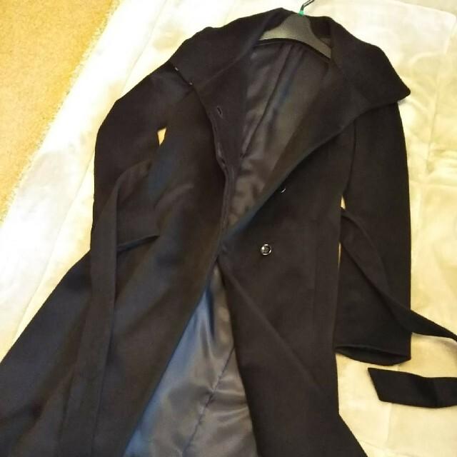 ANAYI(アナイ)の再値下げ!美品☆ANAYI アナイ 黒カシミヤ100%コート36 レディースのジャケット/アウター(ロングコート)の商品写真