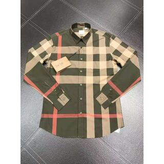 BURBERRY - (バーバリー) チェックストレッチポプリンシャツ