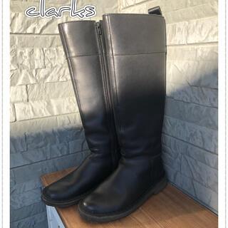 Clarks - ckarks ロングブーツ ブラック 22.5cm 美品