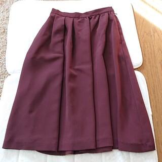 ロペ(ROPE)のロペマドモアゼル ワインブラウン 上品 スカート(ロングスカート)