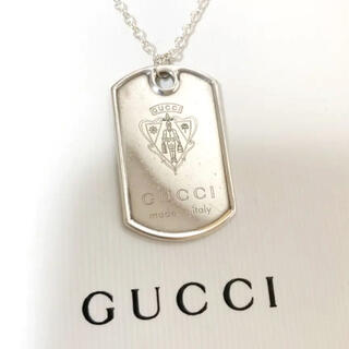 Gucci - GUCCI クレスト ドッグタグ プレート ネックレス