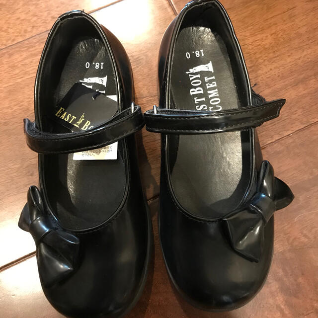 EASTBOY(イーストボーイ)のHachi様専用 新品 イーストボーイ シューズ 18センチ キッズ/ベビー/マタニティのキッズ靴/シューズ(15cm~)(フォーマルシューズ)の商品写真