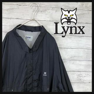 lynx リンクス ナイロンジャケット ワンポイント刺繍 超オーバーサイズ