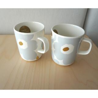 marimekko - marimekko unikko グレー ゴールド マグカップ 2個セット