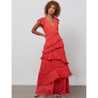 ビーシービージーマックスアズリア(BCBGMAXAZRIA)の❤️ BCBGMAXAZRIA2020秋新作新品 赤ドレス ロングワンピース(ロングドレス)