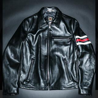 STUSSY - 激レア stussy schott leather jacket