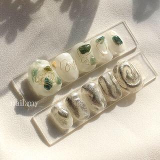 ニュアンスネイル 天然石ネイル(つけ爪/ネイルチップ)