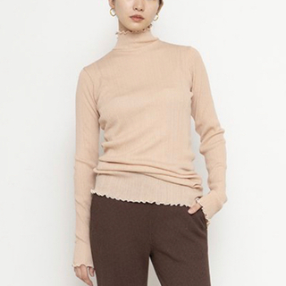 PHEENY - 【PHEENY】Cotton nylon rib frill high neck