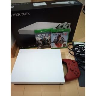 マイクロソフト(Microsoft)のXbox one x XBOX ONE ホワイト スペシャル(家庭用ゲーム機本体)