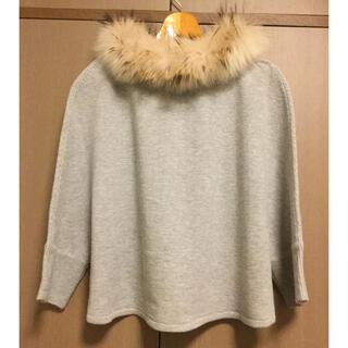 フランシュリッペ(franche lippee)のフランシュリッペ ブラック リアルファー付き セーター(ニット/セーター)