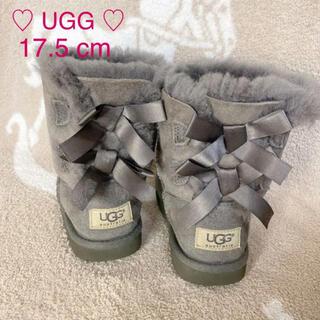 アグ(UGG)のクリーニング済♡ UGG ♡ アグ ムートン ベイリーボウ グレー 17.5cm(ブーツ)