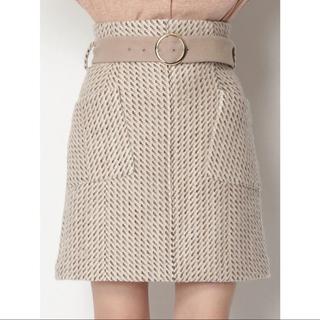 Lily Brown - ベルト付きツイードスカート