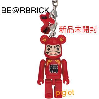 新品未開封 ベアブリック Happy BE@RBRICK 達磨 赤(ストラップ)