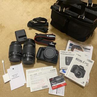 Canon - Canon 一眼レフ EOS kiss x7 ダブルズームキット SDカード付