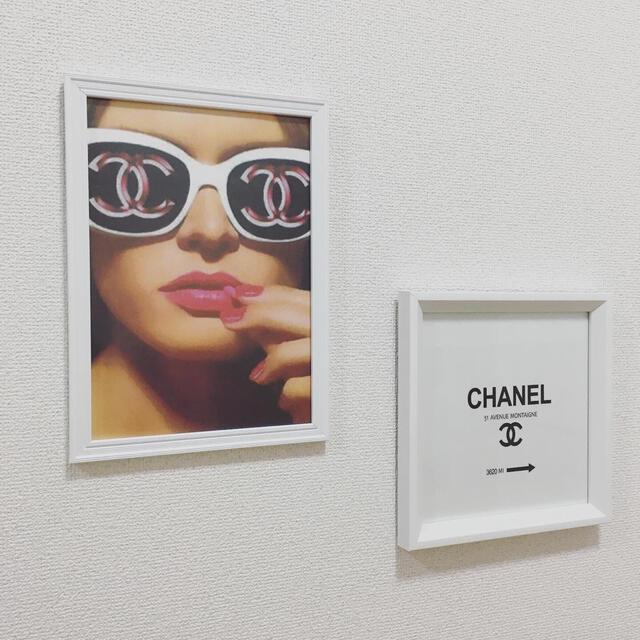 Francfranc(フランフラン)のアートポスター A4サイズ  白フレーム付き 壁掛け インテリア/住まい/日用品のインテリア小物(ウェルカムボード)の商品写真