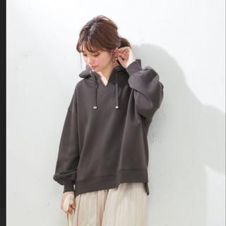 ナチュラルクチュール(natural couture)の【USED】♡natural couture♡裏起毛スリットパーカー(パーカー)