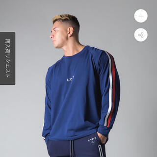 adidas - LYFT リフト LONG SLEEVE T-SHIRT - NAVY