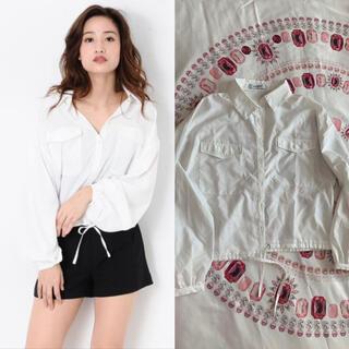エゴイスト(EGOIST)のegoist フロントポケットショートシャツ ホワイト(シャツ/ブラウス(長袖/七分))