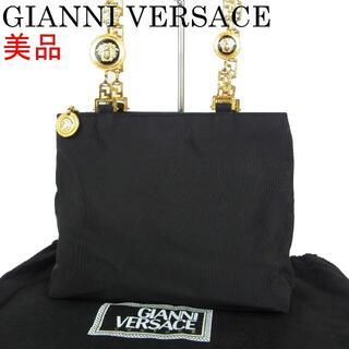 ジャンニヴェルサーチ(Gianni Versace)のヴェルサーチ 美品 グリークキー メタル ハンドル ミニ トート バッグ(ハンドバッグ)