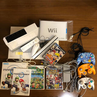Wii - Wii 本体 ゲームキューブコントローラー ソフト4点セット