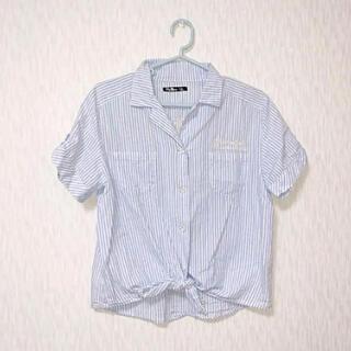 アベイル(Avail)の前結びストライプシャツ(シャツ/ブラウス(半袖/袖なし))