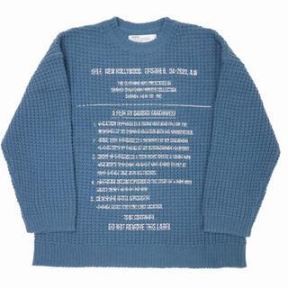 """ジエダ(Jieda)のDAIRIKU/""""Milspecs"""" Printed Knit  《blue》(ニット/セーター)"""