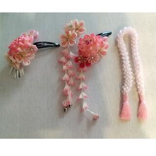 七五三 髪飾りセット ピンク(ヘアアクセサリー)