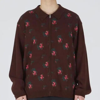 ALLEGE - TTT MSW 20AW flower knit polo (Brown)