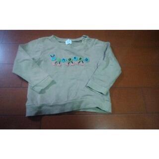 ハッカベビー(hakka baby)のベビーハッカ トレーナー 肩ボタン有り サイズ90 hakka(Tシャツ/カットソー)